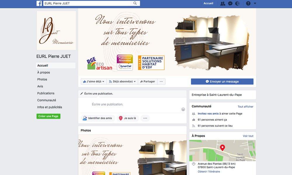 Retrouvez toutes nos nouvelles réalisations sur Facebook